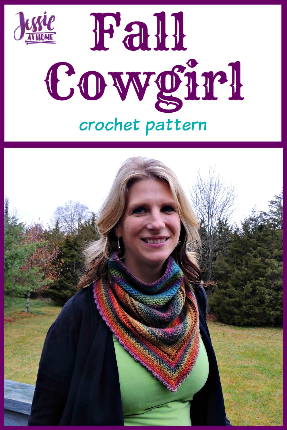 Fall Cowgirl crochet pattern by Jessie At Home - Pin 1