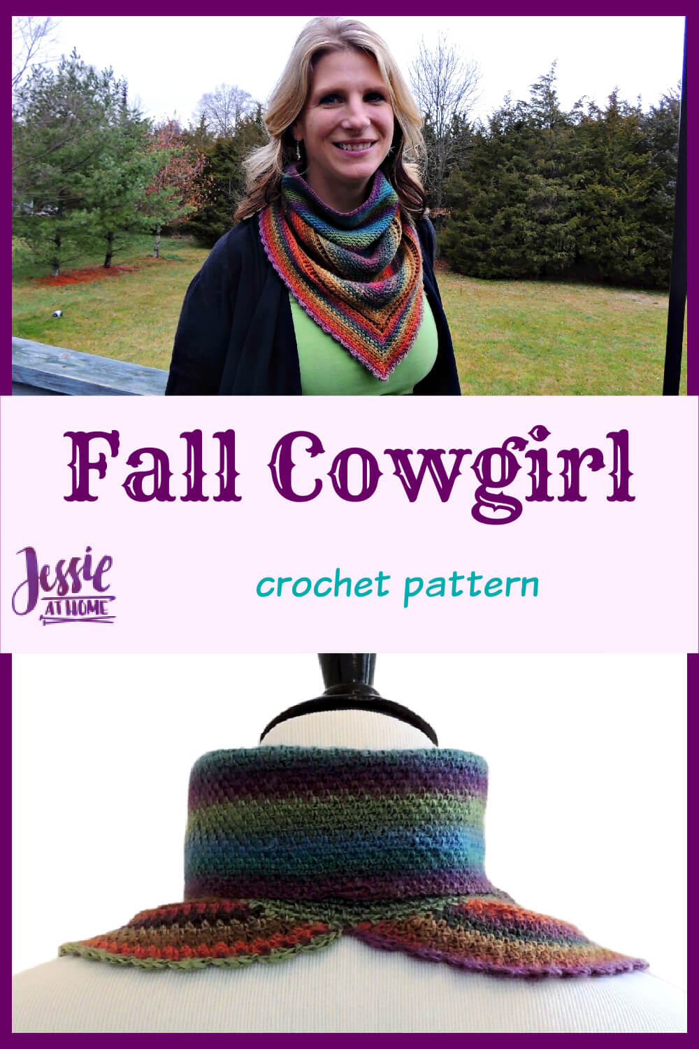 Fall Cowgirl - A feisty crochet cowl for fall fun