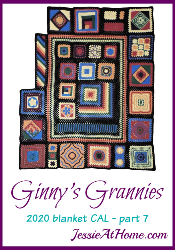 Ginny\'s Grannies CAL Part 7 - Circle, Star, Logs, & Stripes