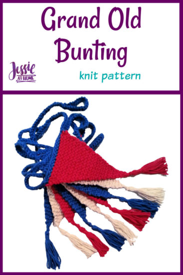 Grand Old Bunting knit pattern by Jessie At Home - Pin 1