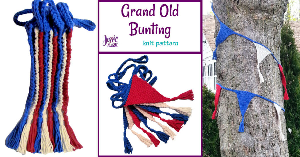 Grand Old Bunting knit pattern by Jessie At Home - Social