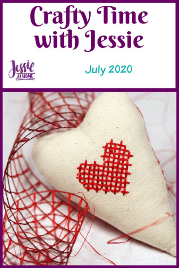 July 2020 Crafty Time with Jessie At Home - Pin 1