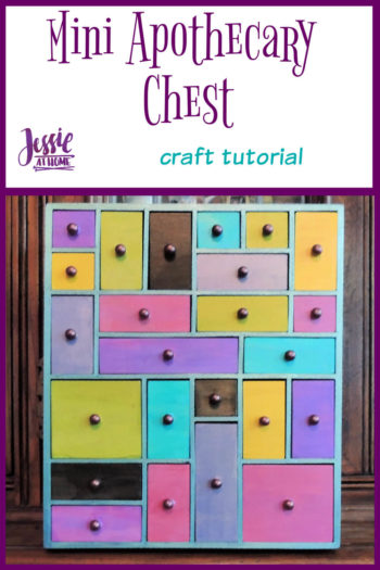 Mini Apothecary Chest - craft tutorial by Jessie At Home - Pin 1