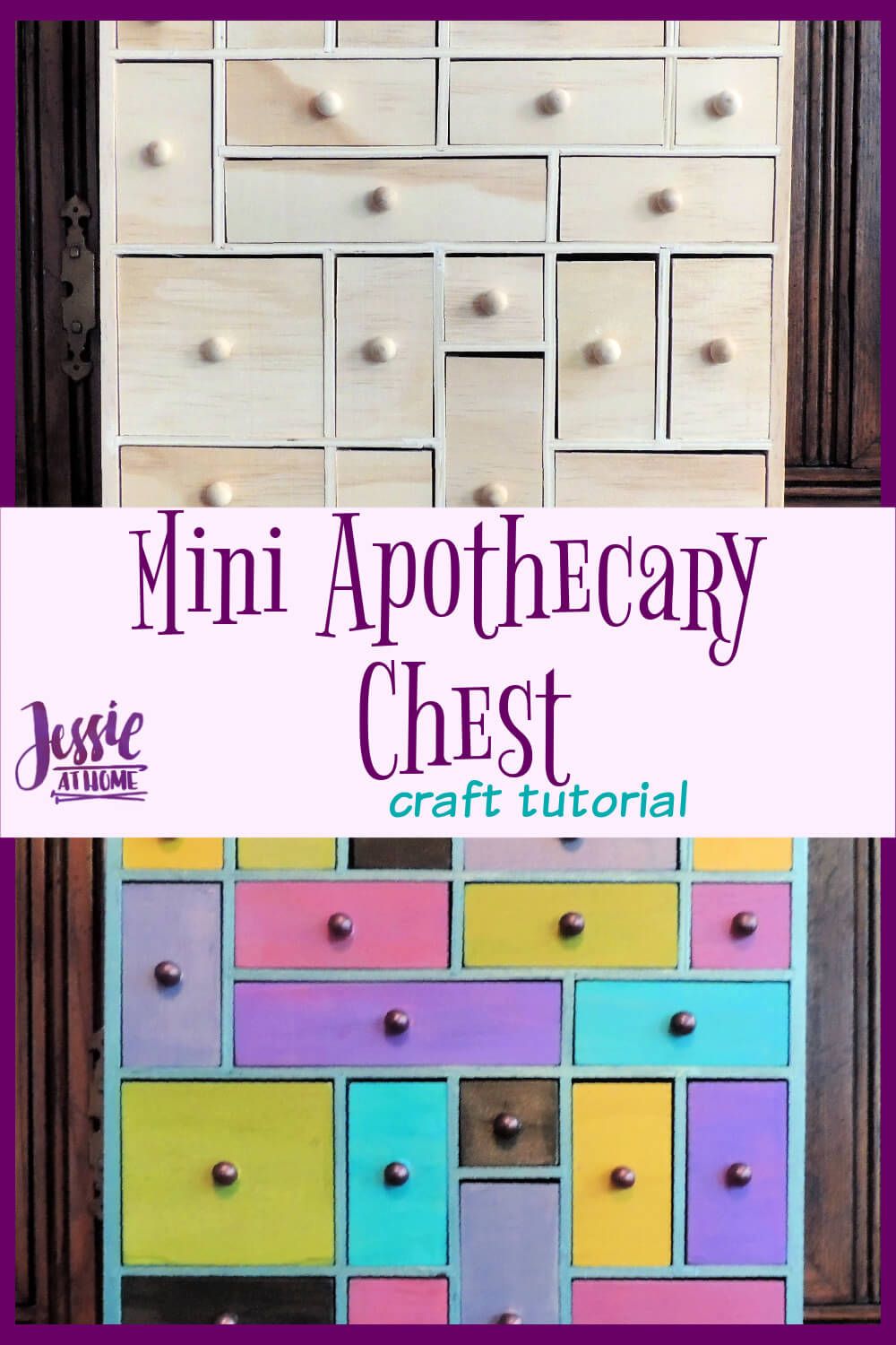 Mini Apothecary Chest - keep your knick-knacks organized in a pretty way