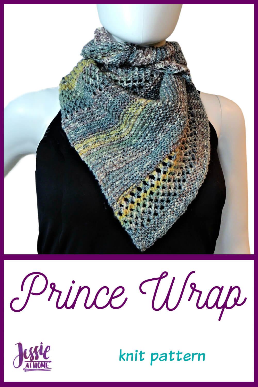 Prince Wrap - unisex knit wrap pattern!