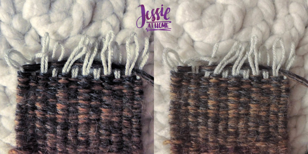 Stick Weaving Tutorial by Jessie at Home - Looping ends