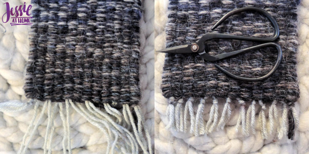 Stick Weaving Tutorial by Jessie at Home - Tie and cut ends