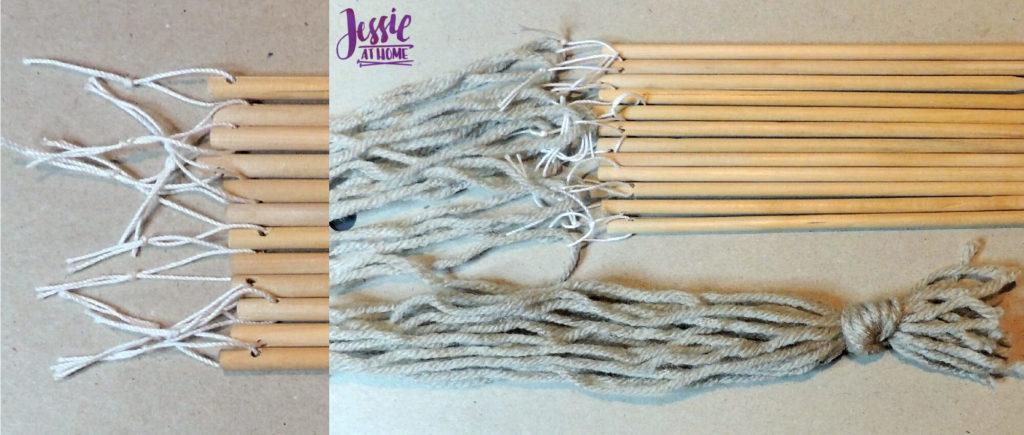 Stick Weaving Tutorial by Jessie at Home - Warping Sticks