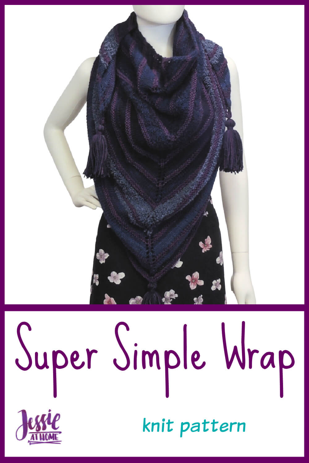 Super Simple Knit Shawl - knit, purl, yarn over, done
