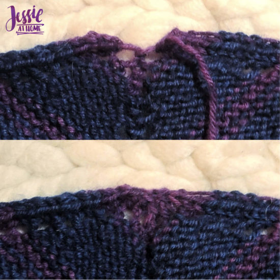 Super Simple Shawl - knit pattern by Jessie At Home - Sew Row One