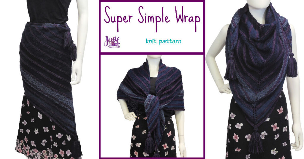 Super Simple Shawl - knit pattern by Jessie At Home - Social