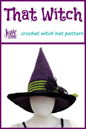 That Witch crochet witch hat pattern by Jessie At Home - Pin 1