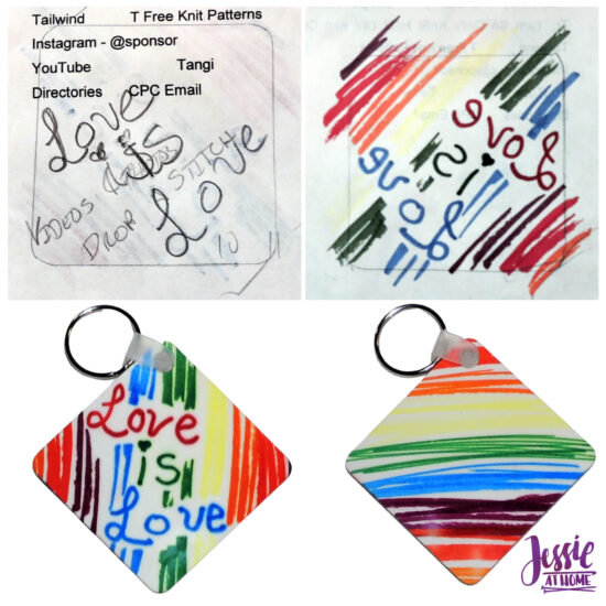 Artesprix Face Masks and Other Awesomeness tutorial by Jessie At Home - Love is Love Key Chain
