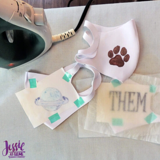 Artesprix Face Masks and Other Awesomeness tutorial by Jessie At Home - Ready to Iron