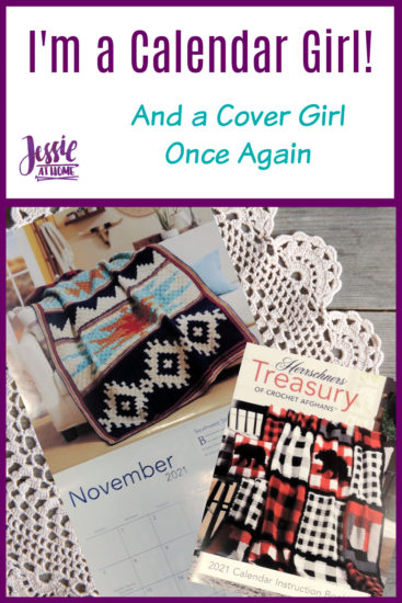 Calendar Girl And Crochet Cover Girl from Jessie At Home - Pin 1