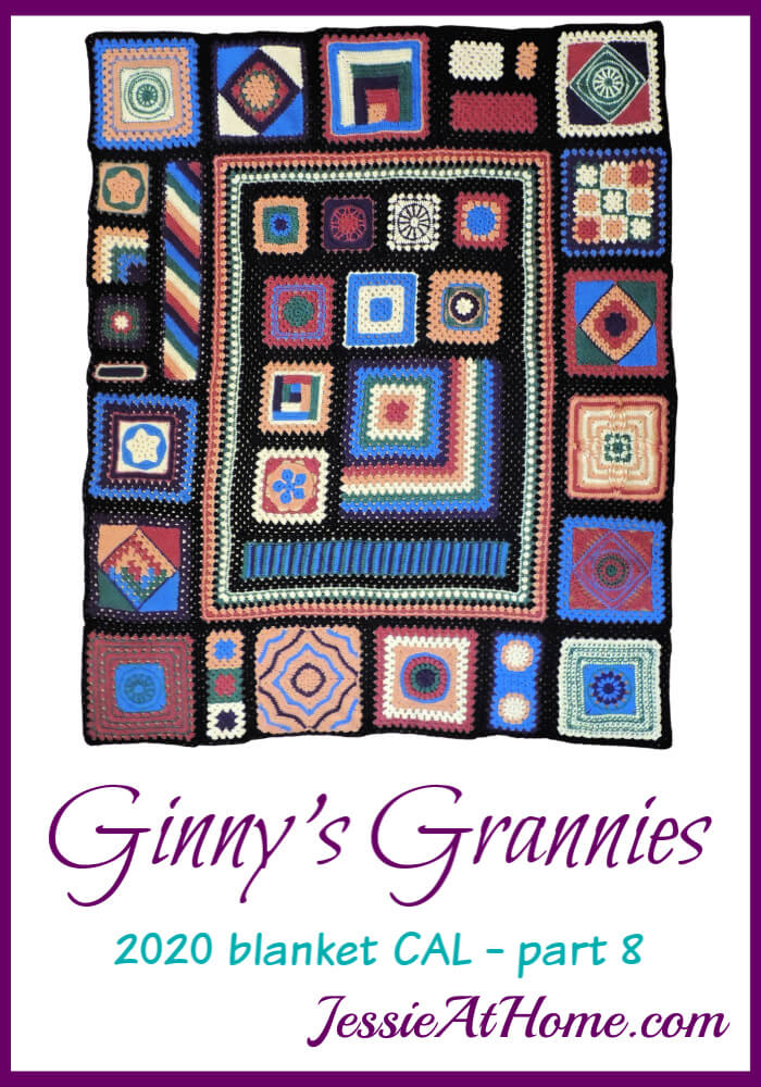 Ginny\'s Grannies CAL Part 8 - Outer crochet square section is done!