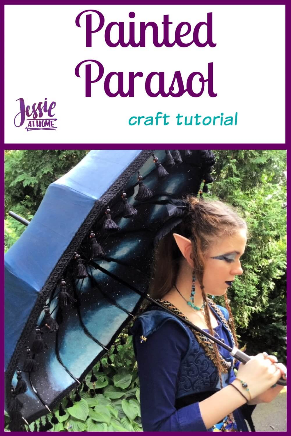 Painted Parasol  - Get mystical with Plaid FX paints and a special guest!