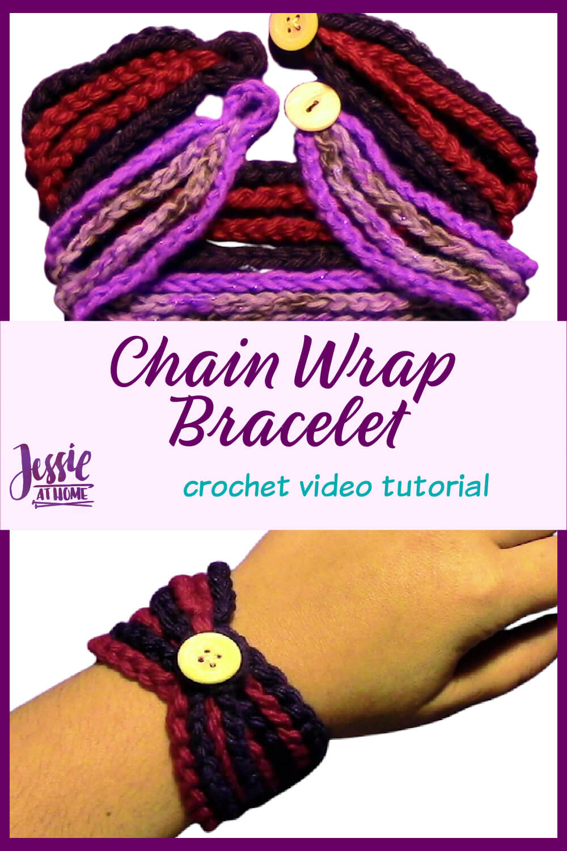 Chain Wrap Bracelet Tutorial - Crochet Pattern Video