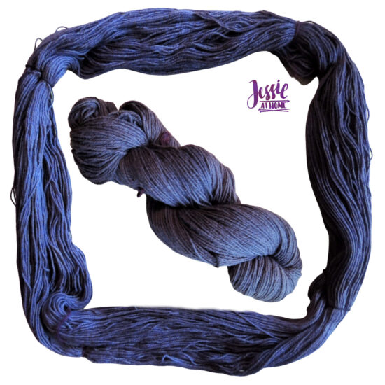 Earthues Botanical Dye for Dyeing Yarn by Jessie At Home - Gloss Dyed with Logwood Purple