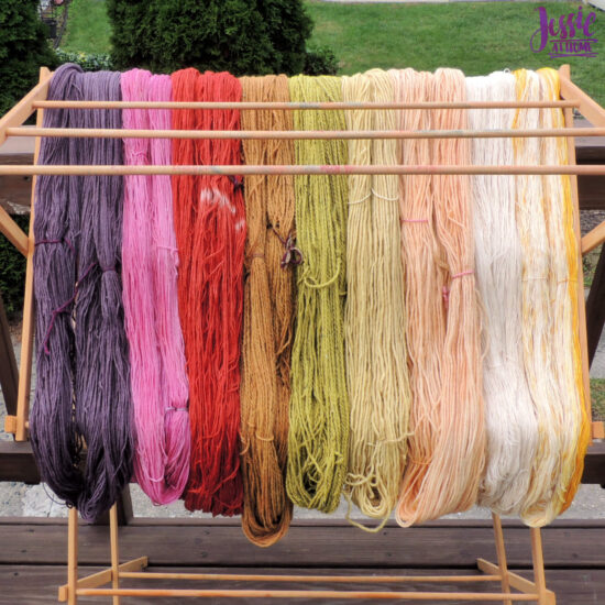 Earthues Botanical Dye for Dyeing Yarn by Jessie At Home - Yarn Drying