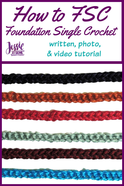 How to FSC - Foundation Single Crochet