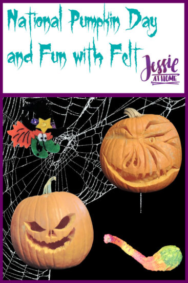 National Pumpkin Day and Fun with Felt by Jessie At Home - Pin 1