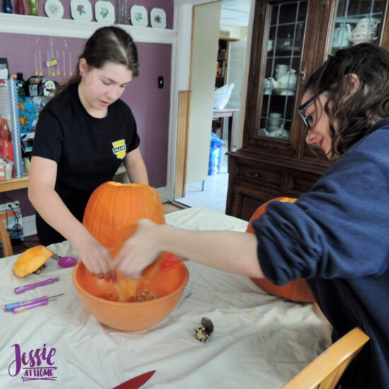 National Pumpkin Day and Fun with Felt by Jessie At Home - Pumpkin Gutting