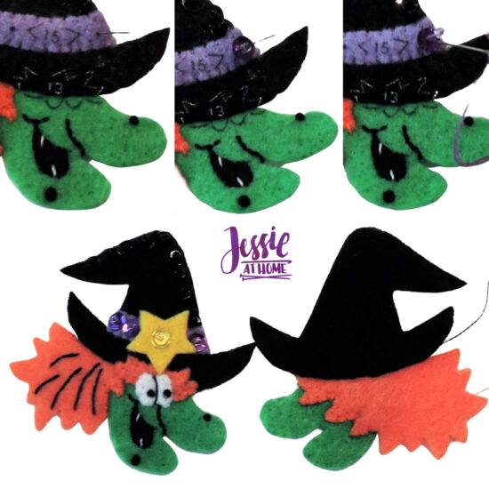 National Pumpkin Day and Fun with Felt by Jessie At Home - Witch