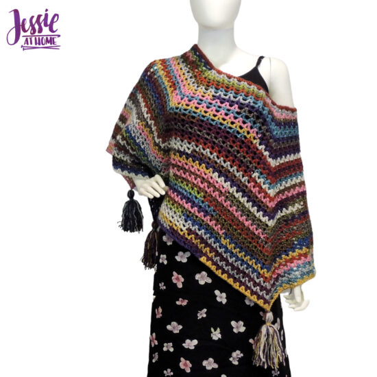 Penny Poncho crochet pattern by Jessie At Home - 1
