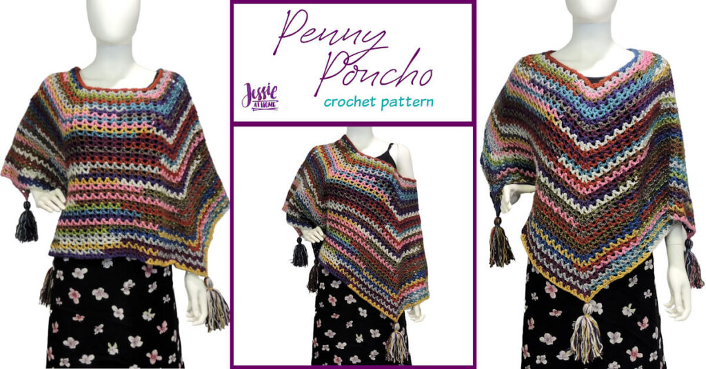 Penny Poncho crochet pattern by Jessie At Home - Social