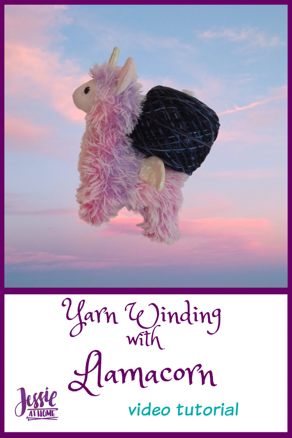 Yarn Winding with Llamacorn - from a hank to a cake