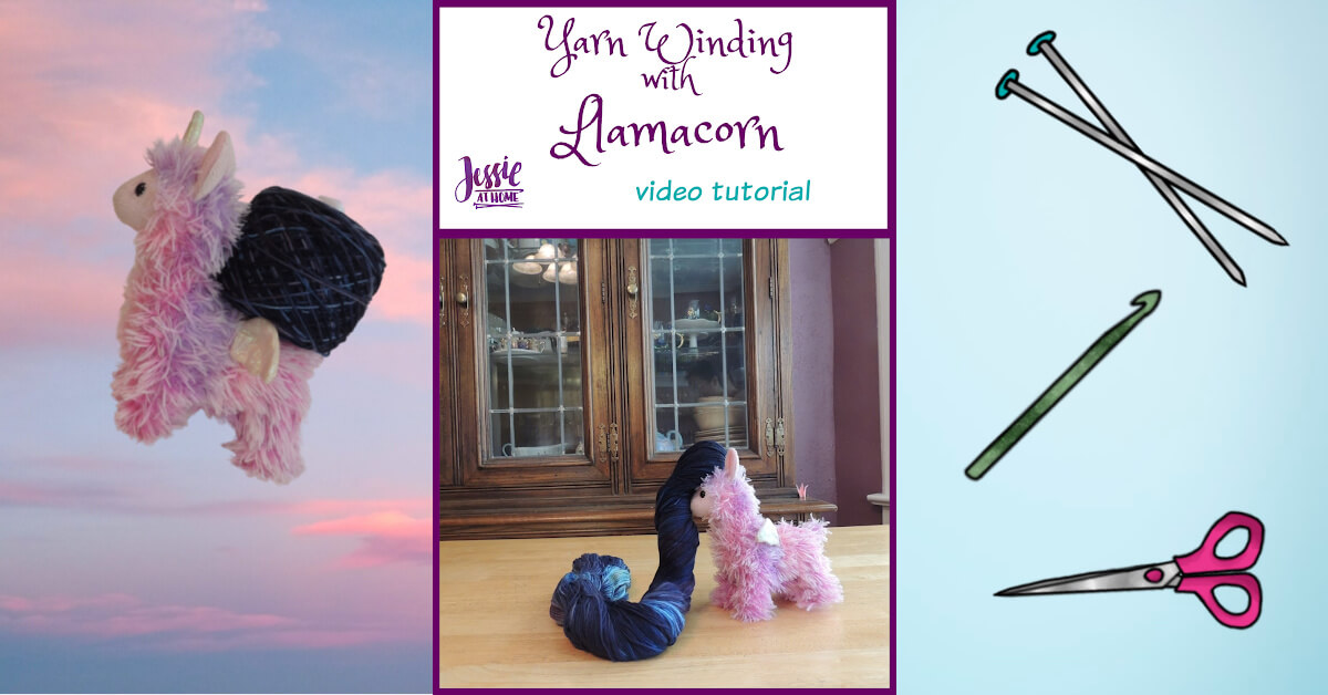 Yarn Winding with Llamacorn and Jessie At Home - Social