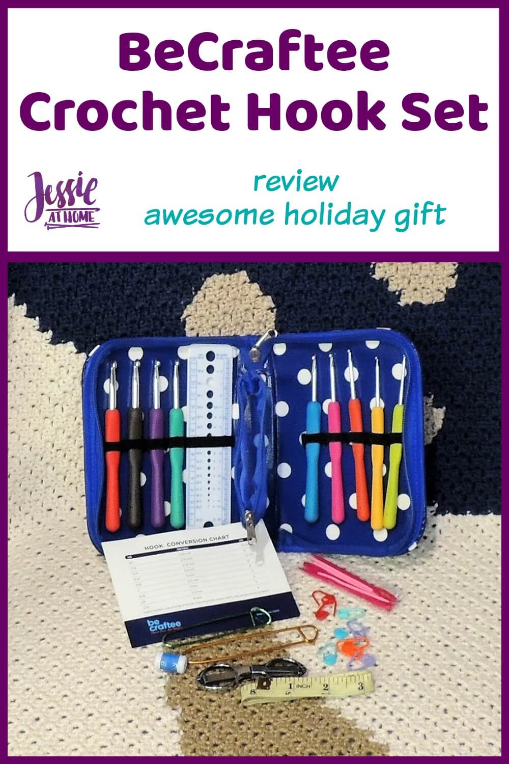 BeCraftee Crochet Hook Set - Awesome Holiday Gift!
