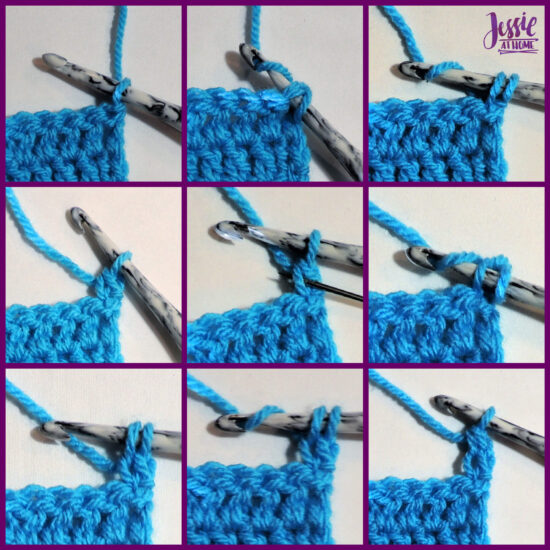 DCH2 - Double Chain Two video, photo, and written Stitchopedia tutorial by Jessie At Home - Dch2 Step by Step Photos
