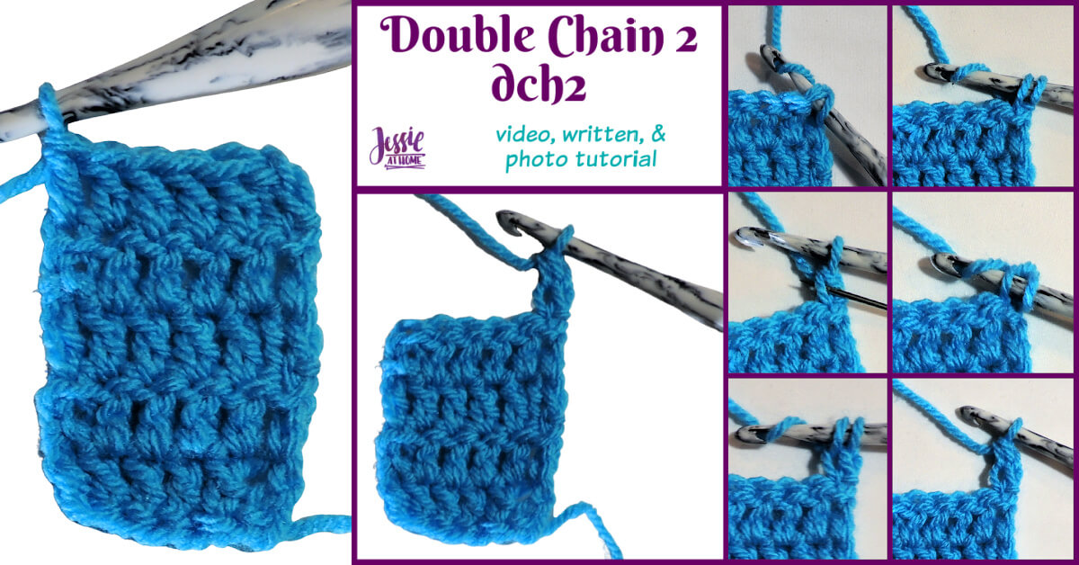 DCH2 - Double Chain Two video, photo, and written Stitchopedia tutorial by Jessie At Home - Social