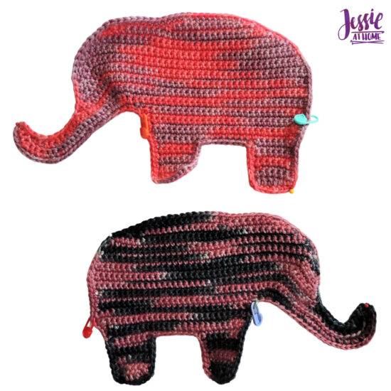 Elihu the Elephant Crochet Pattern by Jessie At Home - Body Pieces