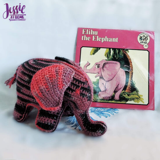Elihu the Elephant Crochet Pattern by Jessie At Home - Elihu 3