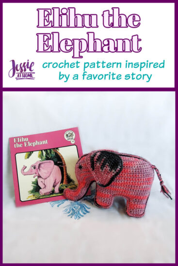 Elihu the Elephant Crochet Pattern by Jessie At Home - Pin 1