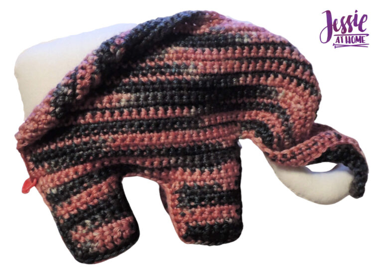 Elihu the Elephant Crochet Pattern by Jessie At Home - Place Lining in Crochet
