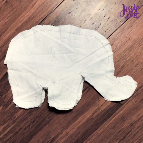 Elihu the Elephant Crochet Pattern by Jessie At Home - Sew Body B Lining to Body A Lining