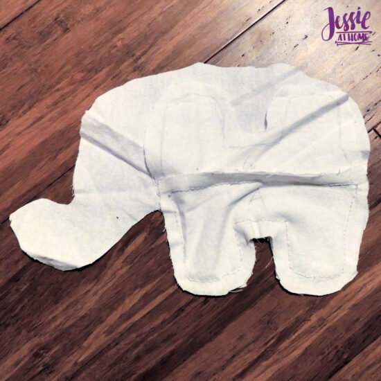 Elihu the Elephant Crochet Pattern by Jessie At Home - Sew Inner Legs A Lining to Body B Lining