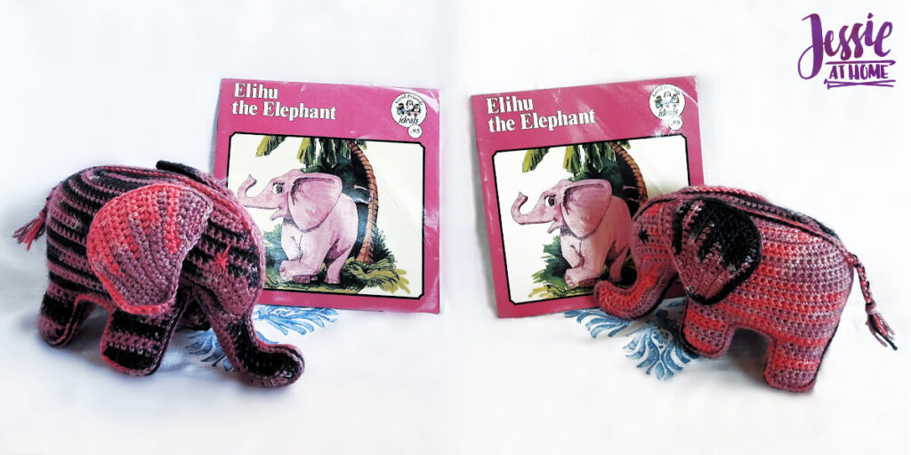 Elihu the Elephant Crochet Pattern by Jessie At Home - Top Image