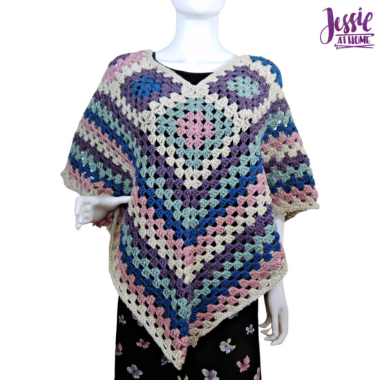 Granny Border Poncho - crochet pattern by Jessie At Home - 2
