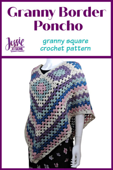 Granny Border Poncho - crochet pattern by Jessie At Home - Pin 1