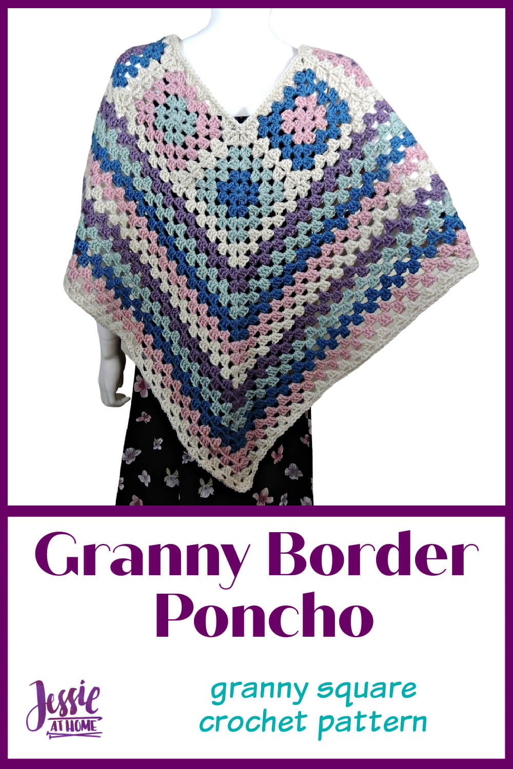 Granny Border Poncho - because Granny Squares are in!