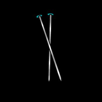 graphic of knitting needles