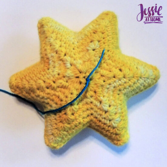 Crochet Holiday Star crochet pattern by Jessie At Home - Attach floss or yarn to center