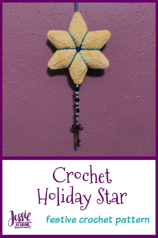 Crochet Holiday Star - Doorknob hanger or just festive décor!