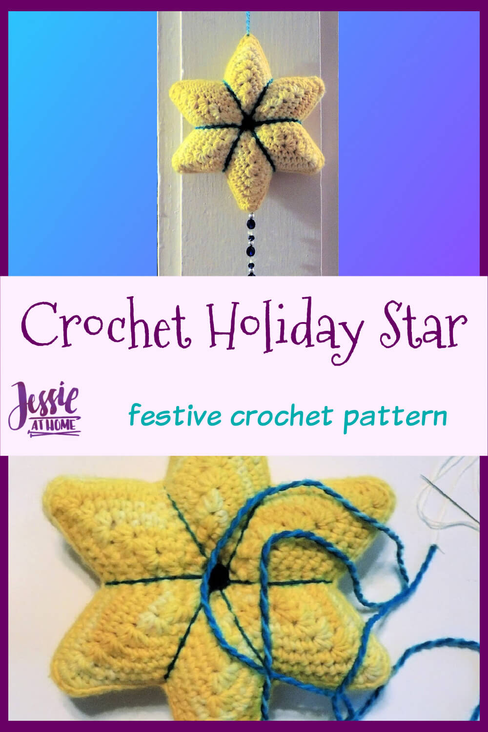 Crochet Holiday Star - Doorknob hanger or just festive décor!