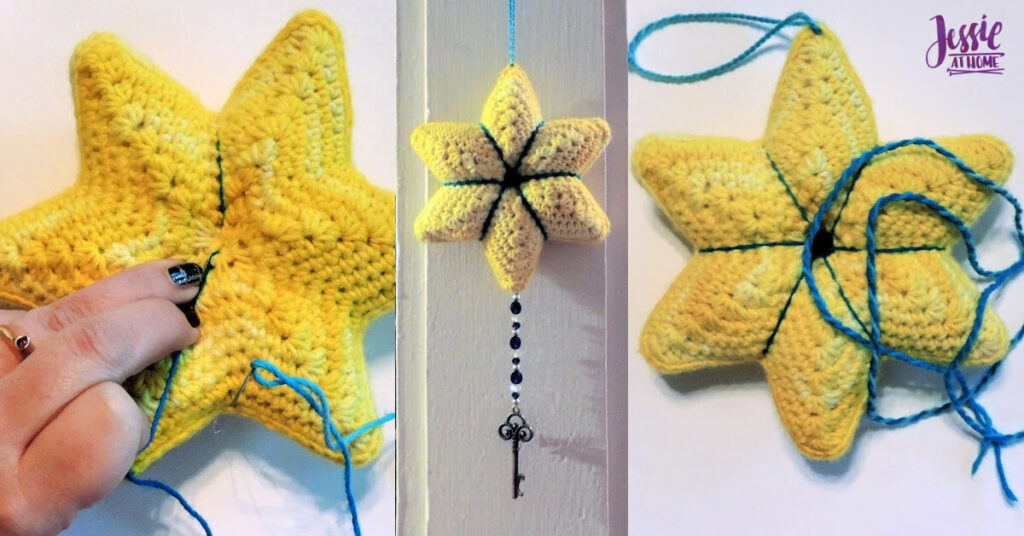 Crochet Holiday Star crochet pattern by Jessie At Home - Top Image